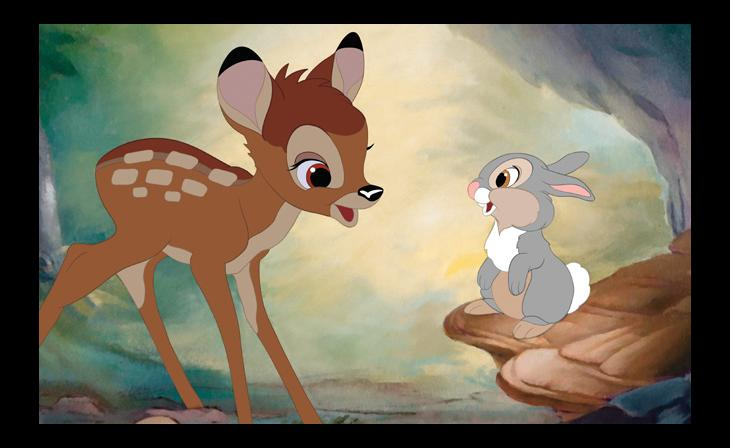 Bambi and Thumper . Production Design by Legendary artist
