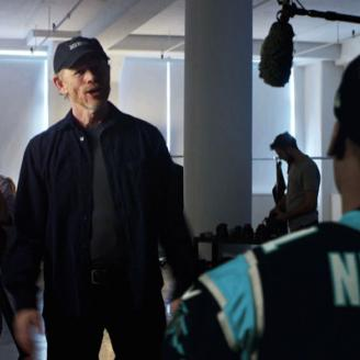 Image of Director Ron Howard & Carolina Panthers QB Cam Newton