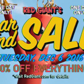 Red Giant holiday sale