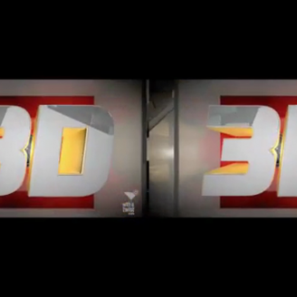 Stereoscopic 3-D Branding Package for ESPN 3D