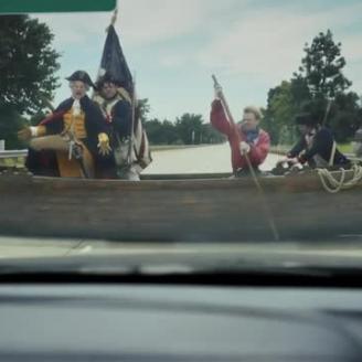 RadicalMedia Director Steve Miller, The Martin Agency Cross The Delaware Turnpike With George Washington For GEICO