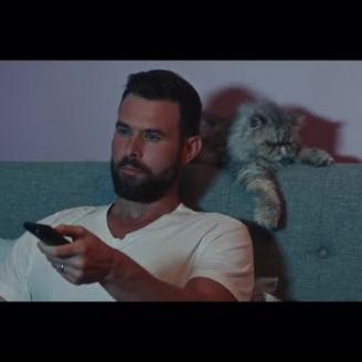 Director Bryan Buckley Takes Cat For A Walk In FUBOTV Promo