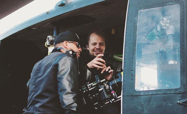 Cfms eif rivera crossing over from nicki minaj to bud light with a left speaks with director of photography mikko timonen in the helicopter for his dropping the beat with lil jon commercial now airing for bud light aloadofball Images